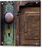 Old Door Knob Acrylic Print by Joanne Coyle