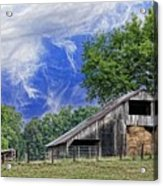 Old Hay Barn Acrylic Print by Jan Amiss Photography