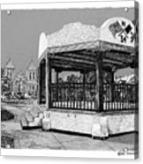 Old Mesilla Plaza And Gazebo Acrylic Print by Jack Pumphrey