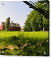 Old New England Farm Acrylic Print by Elzire S