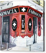 Old Pharmacy Acrylic Print by Tomas Castano