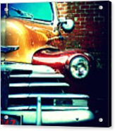Old Savannah Police Car Acrylic Print by Dana  Oliver