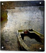 Old Sunken Boat. Acrylic Print by Bernard Jaubert