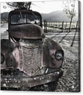 Old Truck In Napa Valley Acrylic Print by George Oze