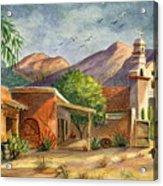 Old Tucson Acrylic Print by Marilyn Smith