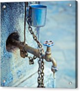 Old Water Tap Acrylic Print by Gabriela Insuratelu