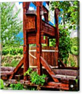 Old Wine Press Acrylic Print by Mariola Bitner