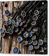 Old Worn Typewriter Keys Acrylic Print by Garry Gay