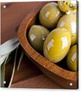 Olive Bowl Acrylic Print by Jane Rix