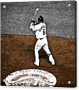 Omar Quintanilla Pro Baseball Player Acrylic Print by Marilyn Hunt