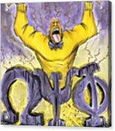 Omega Psi Phi Fraternity Inc Acrylic Print by Tu-Kwon Thomas