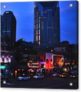 On Broadway In Nashville Acrylic Print by Susanne Van Hulst