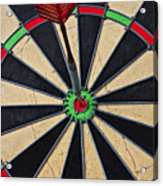 On Target Bullseye Acrylic Print by Garry Gay