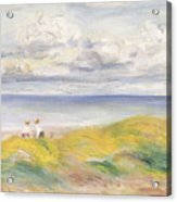 On The Cliffs Acrylic Print by Pierre Auguste Renoir
