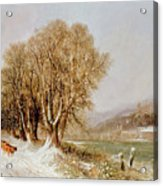On The River Neckar Near Heidelberg Acrylic Print by Joseph Paul Pettit