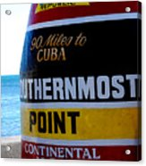 Only 90 Miles To Cuba Acrylic Print by Susanne Van Hulst