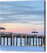 Orange Beach Pier Acrylic Print by JC Findley