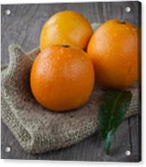 Orange Fruit Acrylic Print by Sabino Parente