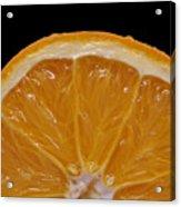 Orange Sunrise On Black Acrylic Print by Laura Mountainspring