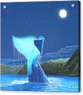 Orca Fluke Acrylic Print by Jeffrey Oldham