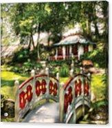 Orient - Bridge - The Bridge To The Temple  Acrylic Print by Mike Savad
