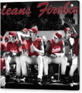 Orleans Firebirds Baseball Team Acrylic Print by Dapixara Art