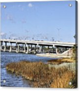 Ormond Beach Bridge Acrylic Print by Deborah Benoit