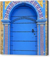 Ornate Moroccan Doorway, Essaouira, Morocco, Middle East, North Africa, Africa Acrylic Print by Andrea Thompson Photography