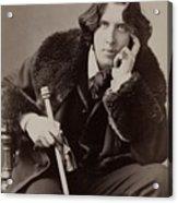 Oscar Wilde, 1854-1900 Irish Writer Acrylic Print by Everett