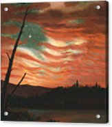 Our Banner In The Sky Acrylic Print by Frederic Edwin Church