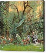 Our Little Garden Acrylic Print by Guido Borelli