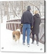 Our Love Will Keep Us Warm Acrylic Print by Larry Ricker