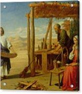 Our Saviour Subject To His Parents At Nazareth Acrylic Print by John Rogers Herbert