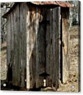 Outhouse Acrylic Print by Gayle Johnson