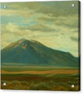 Outside Of Taos Acrylic Print by Phyllis Tarlow
