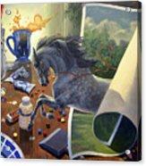 Over The Edge Acrylic Print by Jeanne Newton Schoborg