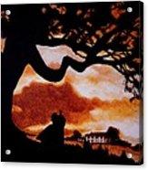 Overlooking Tara At Sunset Acrylic Print by Al  Molina