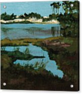 Oyster Lake Acrylic Print by Racquel Morgan