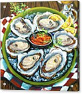 Oysters On The Half Shell Acrylic Print by Dianne Parks
