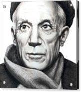 Pablo Picasso Acrylic Print by Murphy Elliott