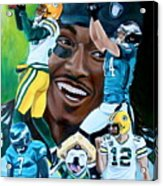 Packers  Glorious Moments Acrylic Print by Dawn Graham