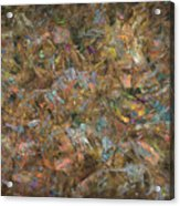 Paint Number 18 Acrylic Print by James W Johnson