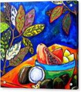 Papaya Morning Acrylic Print by Patti Schermerhorn