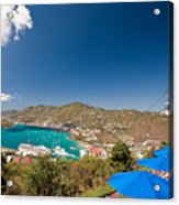 Paradise Point View Of Charlotte Amalie Saint Thomas Us Virgin Islands Acrylic Print by George Oze