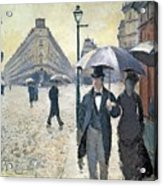 Paris A Rainy Day Acrylic Print by Gustave Caillebotte