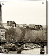 Paris Days Acrylic Print by John Rizzuto