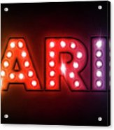 Paris In Lights Acrylic Print by Michael Tompsett