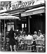 Paris Street Cafe - Le Malakoff Acrylic Print by Georgia Fowler