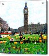Parliament Square London Acrylic Print by Kurt Van Wagner