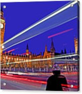 Parliament Square With Silhouette Acrylic Print by Chris Smith